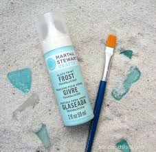 martha stewart glass paint diy sea glass
