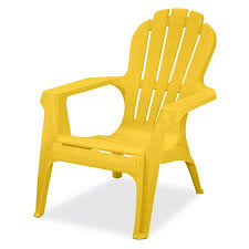 yellow patio furniture. US Leisure Resin Adirondack Chair - Plastic Patio Furniture, Yellow Furniture