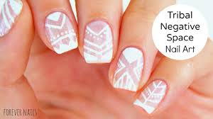 Tribal Negative Space Nail Art | Prom/Wedding Nails - YouTube
