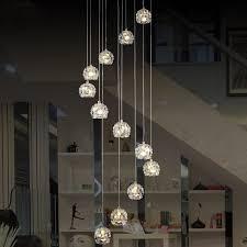 modern spiral chandelier led staircase lighting indoor stairway lighting chandelier dining room drop light long spiral