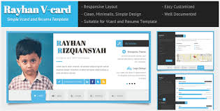 Online Resume Website Beauteous Rayhan HTML Resume Template CV Vcard By Wpamanuke ThemeForest