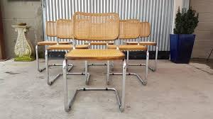 a set of six marcel breuer cesca dining chairs circa 1970s