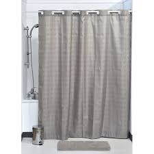hookless shower curtain polyester cubic color matching hooks 71l x 79h 180 x 200 cm taupe