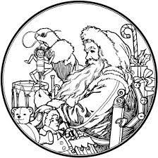 Small Picture Santa Claus Coloring Pages 4 Purple Kitty