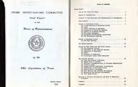 organized crime and texas crime investigating committee in the reportcombo