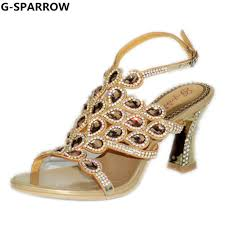 Sandal Design Us 62 83 50 Off Women Wedding And Party Shoes Sandals New Design Fashion And Sexy Rhinestone Evening Dress Shoes Women Sandal Shoes Size 35 44 In