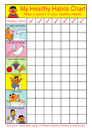 Kids Healthy Habits Chart Kids Food For Kids Yummy