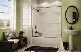 Builtin Bathtubshower Combination  Rectangular  Acrylic  KDTS Acrylic Shower Tub Combo