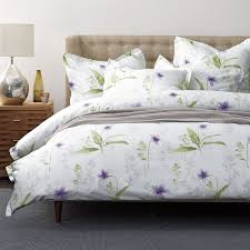 simply violet count sateen duvet cover this elegant fl duvet cover is sprigged with delicate violets creating a restful theme for the bedroom