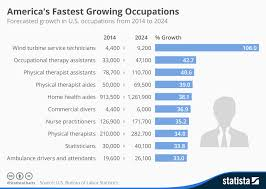 Occupation Chart Pictures Chart Americas Fastest Growing Occupations Statista