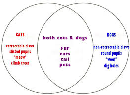 john venn math  comparing cats to dogs
