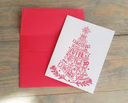 creative holiday cards. Brilliant Cards Letterpress Red Christmas Tree Card Our Limited Edition Letterpress Holiday  Cards  Intended Creative Cards O