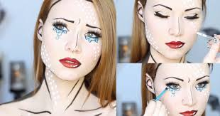 easy makeup ideas pop art makeup with tears