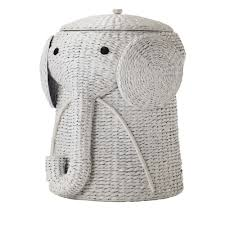 This wicker laundry basket is expertly handcrafted into the shape of a  friendly elephant with a curling trunk. Lift the elephant's hat to discover  plenty of ...