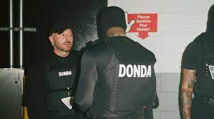 backstage at Kanye West's DONDA event ...