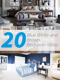 20 Blue, White and Brown Bedroom Ideas   Home Design Lover