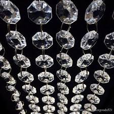 3 3 feet crystal clear acrylic beads chain acrylic crystal garland hanging diamond chandelier wedding supplies party table decoration birthday party