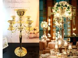phenomenal gold chandelier centerpieces gold candelabra wedding centerpieces
