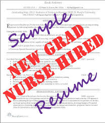 Graduate Nurse Resume Templates New Grad Nurse Resume From Resume