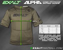 Chest Protector Size Chart Exalt Paintball Slide Short Pant Elbow Pad Size And Sizing Chart
