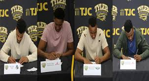 Four Apaches Sign Four-Year Letter Of Intents | Tyler Junior College ...