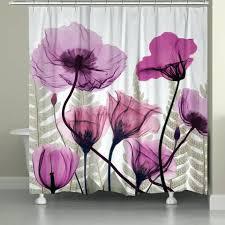 laurel home shower curtain h8438 x ray fuchsia fl shower curtain laural home cabin rules shower
