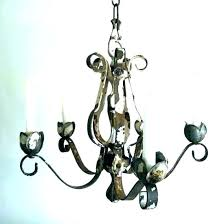 wrought iron candle holder chandelier