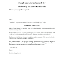 Letter Of Recommendation Character Example Letter Of Recommendation Character Reference Example Sample Editable