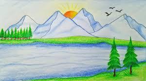 1280x720 draw natural scene
