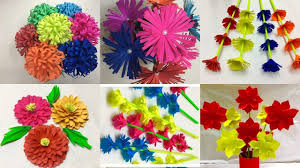 How To Make A Simple Paper Flower Bouquet Paper Flower Easy To Make A Bouquet Knittting Crochet