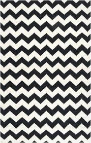 chevron wool flat weave rug black white limited and area project 62tm