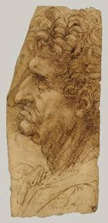 leonardo da vinci artist heilbrunn timeline of art history  head of a man in profile facing to the left