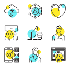 Two Tone Icons Two Tone Icon Family Yellow And Blue 2 312 Vector Icons