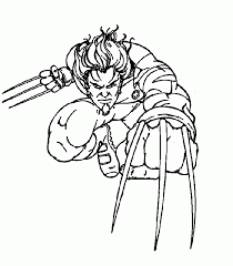 Small Picture Wolverine Coloring Pages Superhero Coloring Pages For Kids