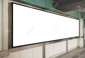 Signboard Template Mock Up Blank Signboard Template Display On The Wall At Train
