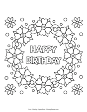 You can print any picture online from our website, colorize it, and get the perfect complement to the main gift, or a gift from a child to an adult. Happy Birthday Coloring Pages Free Printable Pdf From Primarygames