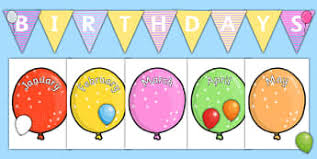 Bee Themed Birthday Chart Birthdays Displays Primary Resources
