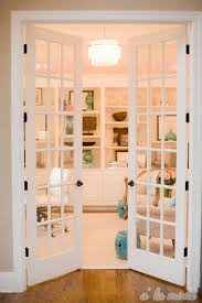 home office doors. Classic White Double French Doors Looks Clean And Chic Leading Into A Feminine Home Office U