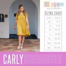 Lularoe Size Chart Lularoe Carly Size Chart Lularoe Carly Dress Lularoe