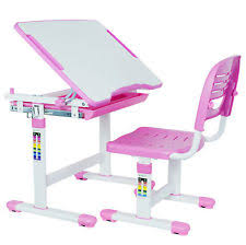vivo height adjustable childrens desk chair kids interactive work station pink childs office chair