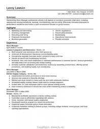 Resume Newest Retail Manager Resume Alluring Store Sample