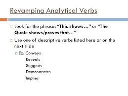 learning target students will revise and edit their analytical  6 revamping analytical