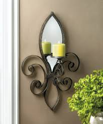 fleur de lis mirrored wall sconce home decor with fleur de lis