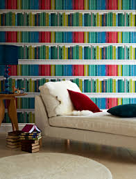 Marcus design contemporary bookcase wallpaper by Albany