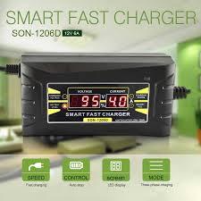 Upgraded <b>12V 6A</b> Pulse Repair Charger <b>with LCD Display</b> ...