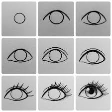How To Draw Eyes Step By Step Step By Step Eye Tutorial By Creative_carrah Easy Charcoal