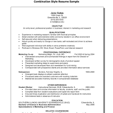 Free Combination Resume Template Impressive Hybrid Resume Template Examples Of Combination Resumes Templates