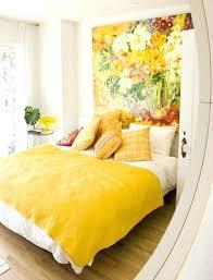 mustard yellow linen duvet cover yellow themed bedroom design idea yellow duvet cover throw pillows wall