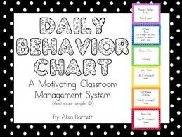Daily Classroom Rewards And Consequence System Behavior Chart