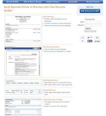Resume Builder Online Free Download Excellent Buildesume Online Template Free Download Where Can I For 43